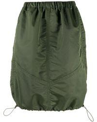 YMC Drawstring-hem Parachute Skirt - Green