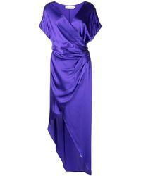 Michelle Mason シルク ラップドレス - パープル