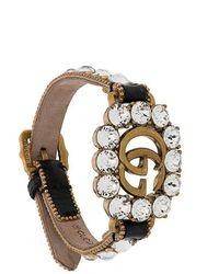Gucci Bracelet à logo et ornements - Noir