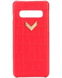 Manokhi Coque de Samsung S10 à plaque logo - Rouge