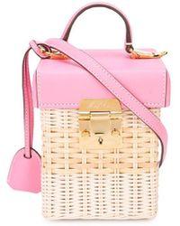 Mark Cross Rattan Detail Shoulder Bag - Pink
