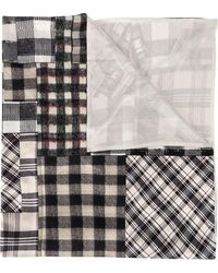 Pierre Louis Mascia Checked Patchwork Scarf - マルチカラー