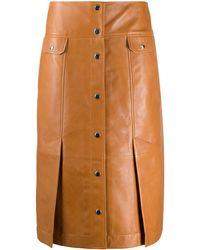 COACH レザースカート - ブラウン