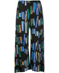 Pleats Please Issey Miyake Hopscotch Colours Printed Culottes - Black
