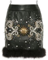 Fausto Puglisi Jewelled Mini Skirt - Zwart