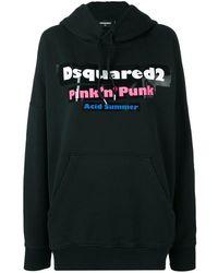 DSquared² Pink 'n' Punk Hoodie - Black