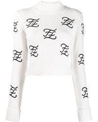 Fendi - Ff Karligraphy セーター - Lyst