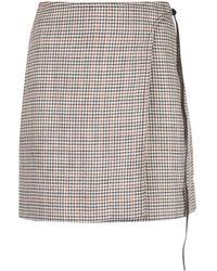 Adam Lippes Checked Mini Skirt - Multicolor