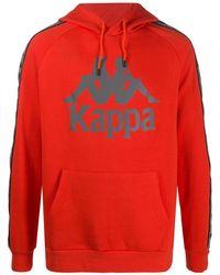 Kappa ドローストリング パーカー - オレンジ