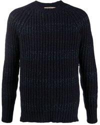 Roberto Collina - Striped Ribbed-knit Jumper - Lyst