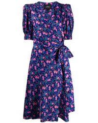 Marc Jacobs Платье Миди С Цветочным Принтом - Синий
