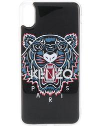 KENZO Iphone Xs Max Hoesje Met Tijgerprint - Zwart