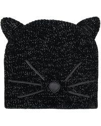 Karl Lagerfeld Choupette Beanie Hat - Black