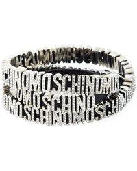 Moschino - Logo Plaque Wrap Around Bracelet - Lyst