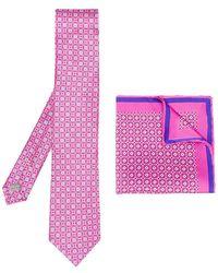 Canali - Printed Tie Set - Lyst