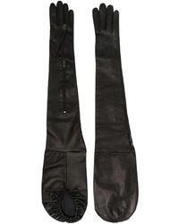 Manokhi Длинные Перчатки - Черный