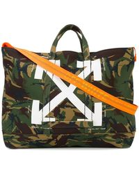 Off-White c/o Virgil Abloh | Camouflage Printed Tote | Lyst