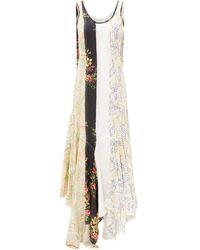 JW Anderson フローラル パッチワーク ドレス - マルチカラー