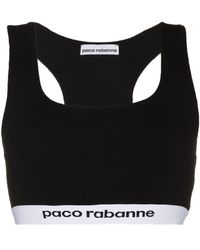 Paco Rabanne Logo-tape Sports Bra - Black