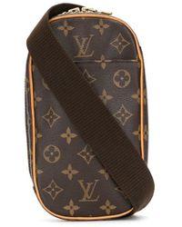Louis Vuitton Поясная Сумка Pre-owned С Монограммой - Коричневый