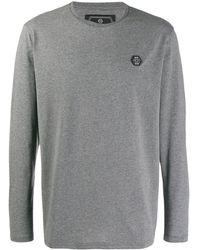 Philipp Plein ロゴ ロングtシャツ - グレー