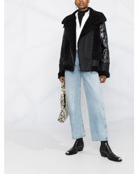 Karl Lagerfeld Байкерская Куртка С Искусственным Мехом - Черный