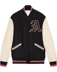 Gucci Bomber Jacket With Patches - Black