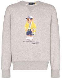 Polo Ralph Lauren Sweater Met Teddybeerprint - Grijs
