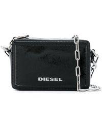 DIESEL Square Cross Body Bag - Black
