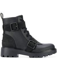 UGG Ботинки В Стиле Милитари С Пряжкой - Черный