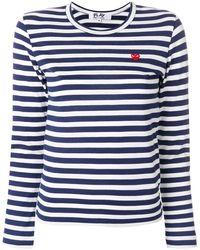 COMME DES GARÇONS PLAY - ハートロゴ ボーダーtシャツ - Lyst