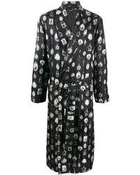 Dolce & Gabbana ペンダントプリント ローブ - ブラック