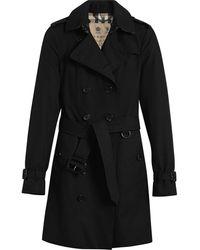 Burberry The Sandringham Mid-length Trench Coat - Black