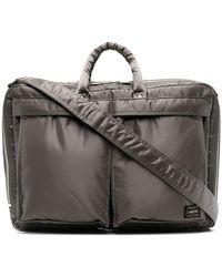 Porter Tanker Fabric Two-way Briefcase - Metallic