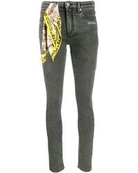 Off-White c/o Virgil Abloh Scarf Detail Skinny Jeans - Multicolor