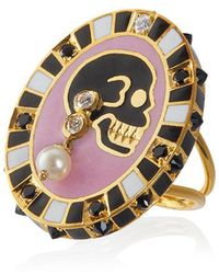 Holly Dyment - 18k Yellow Gold Monday Diamond Pearl Ring - Lyst