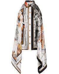 Burberry Animalia Print Bodysuit - Gray