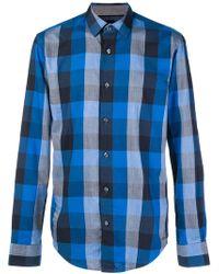 BOSS - Classic Checked Shirt - Lyst
