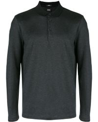 BOSS by Hugo Boss Long-sleeve Polo Top - Black