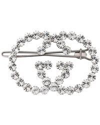 Gucci Barrette à ornements en crystal - Métallisé