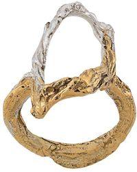 Loveness Lee Acacia Abstract Ring - Metallic