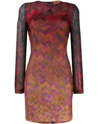 Missoni Chevron-print Dress - Red