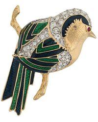 Susan Caplan Broche D'Orlan con diseño de pájaro - Multicolor
