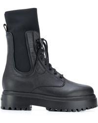 Le Silla Ranger Leather Ankle Boots - Black