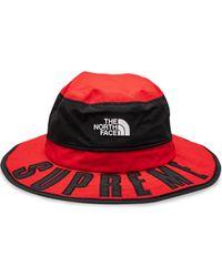 Supreme Tnf Arc Logo Horizon Breeze Hat - Red