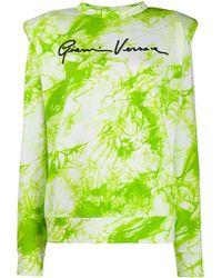 Versace Толстовка Gianni С Принтом Тай-дай - Зеленый