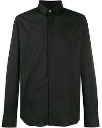 Les Hommes Effen Overhemd - Zwart