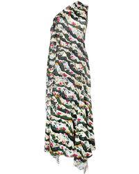 Erdem Floral One-shoulder Dress - マルチカラー
