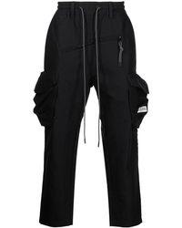 Mostly Heard Rarely Seen Elasticated-waist Cargo Pants - Black