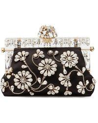 Dolce & Gabbana ビジュートリム クラッチバッグ - ブラック